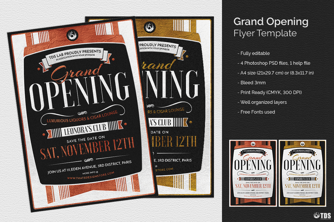 Grand Opening Flyer Template psd design download