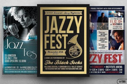 Jazzy Fest Flyer Bundle