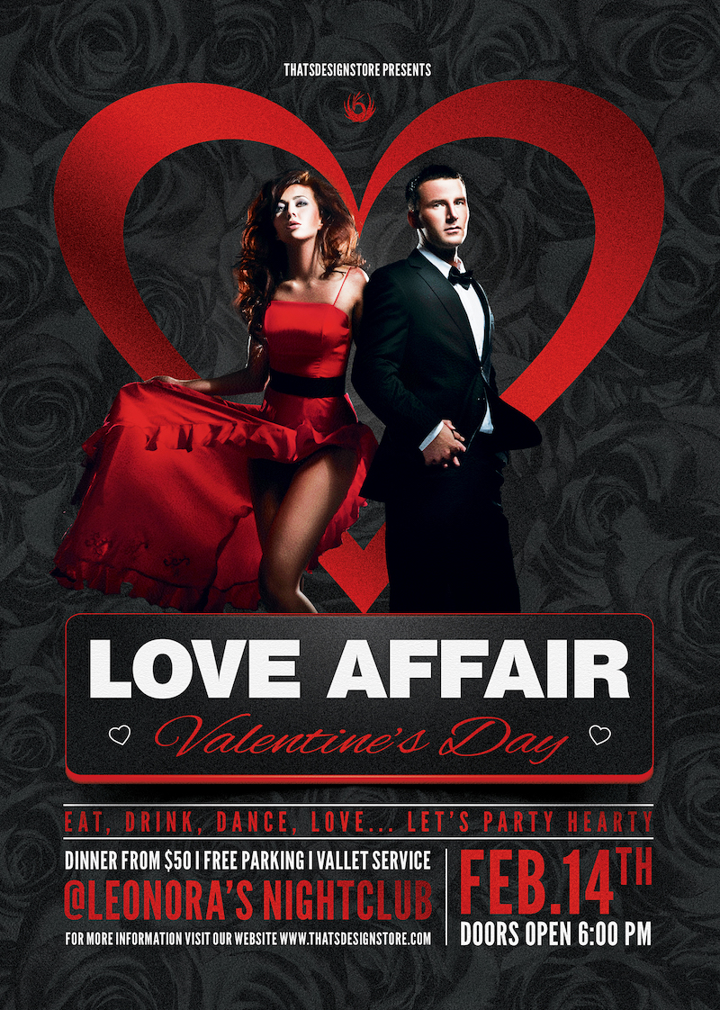 Valentine's Day Flyer Template V1