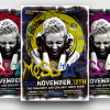 Club Electro Flyer Template PSD download for Dj