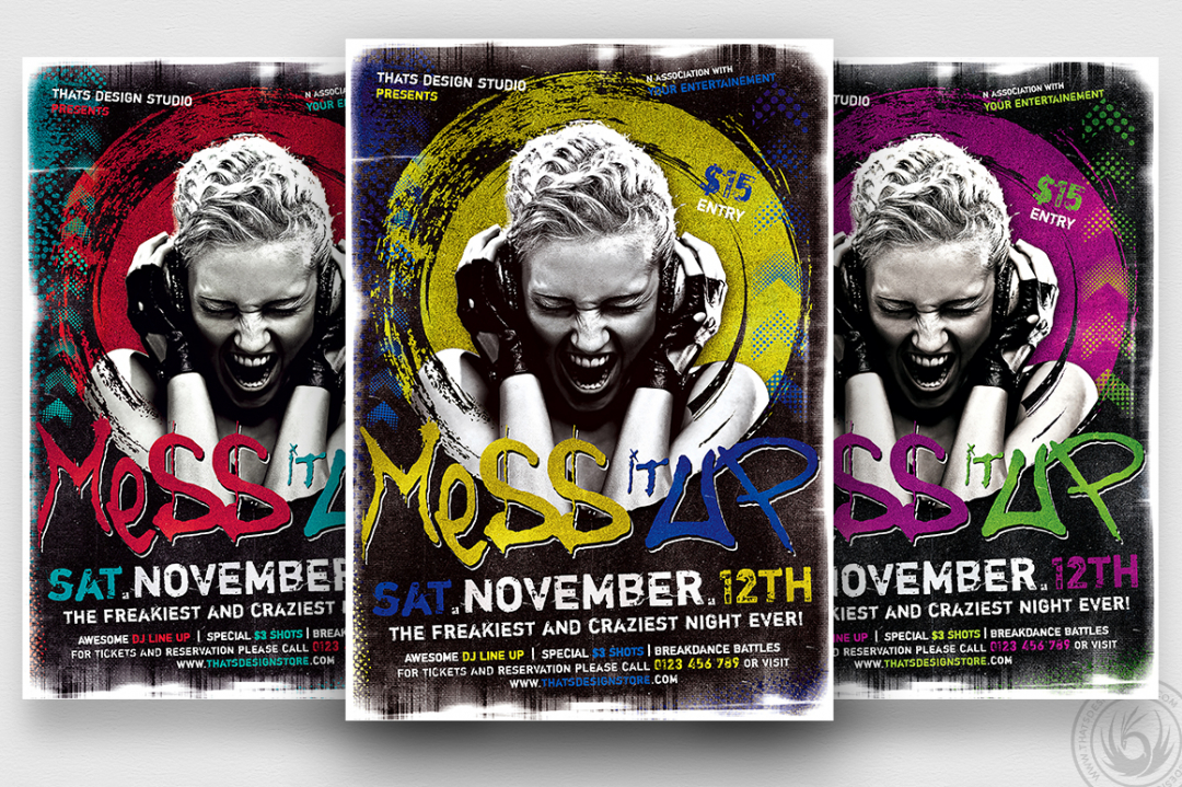 Mess it Up Flyer Template