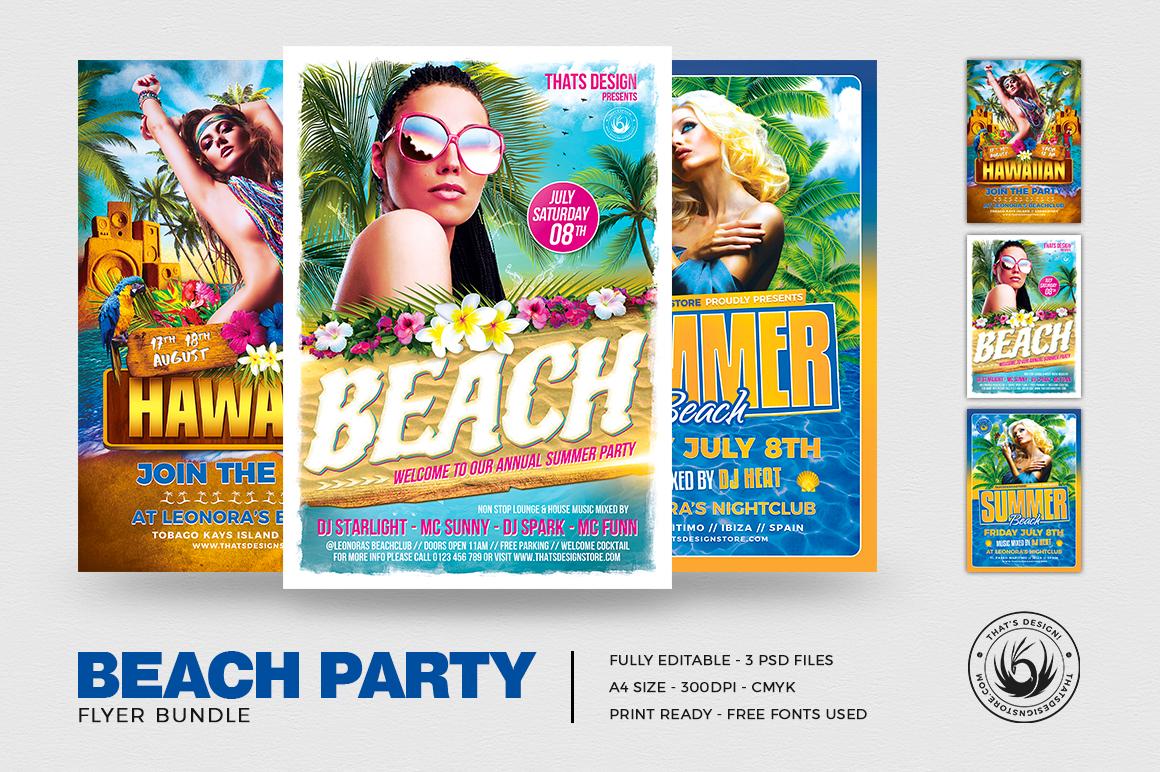 Beach Party Flyer Bundle V2