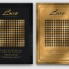 Minimal Black & Gold Flyer Template PSD download V2, cigare lounge, luxury event