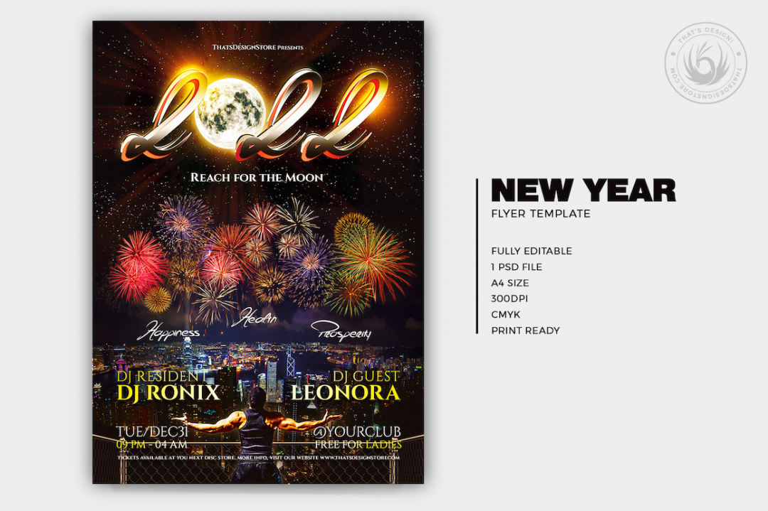 Download New Year Flyer Template V1
