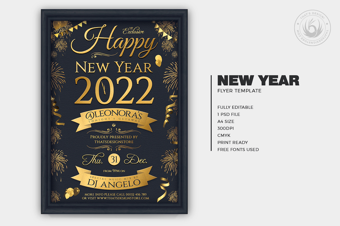 New Year Eve Flyer Template V5
