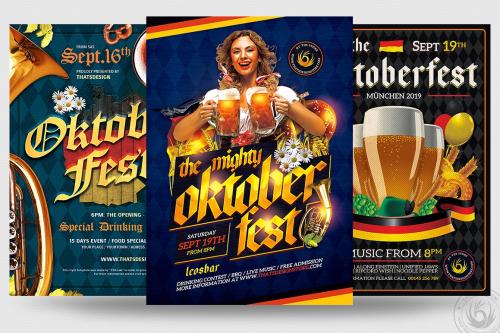 Oktoberfest Flyer Psd Templates for photoshop Bundle V4
