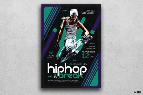 DANCE CLASSES FLYER TEMPLATE PSD V2