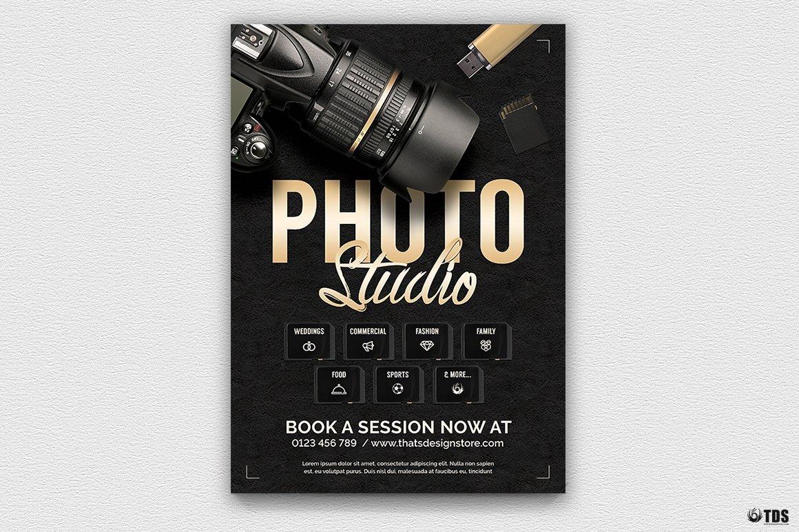 Photo Studio Flyer Template For Photoshop Design