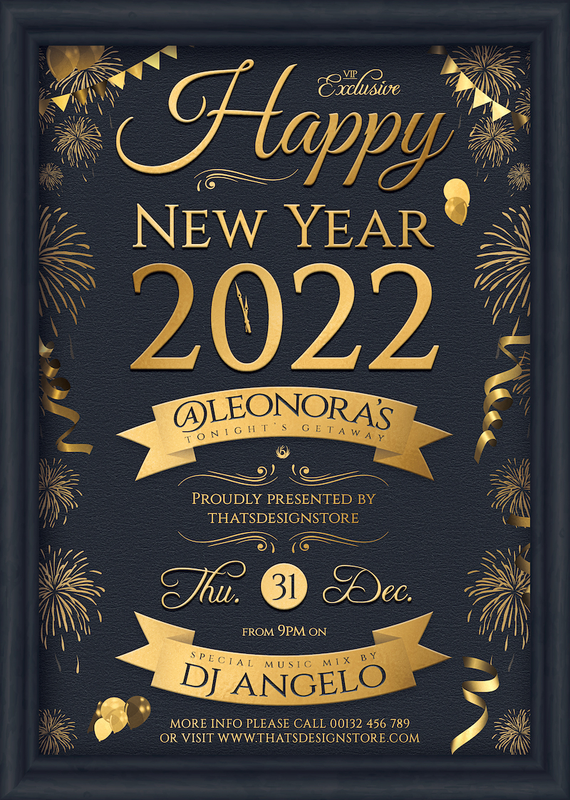 New Year Eve Flyer Template PSD download design V5