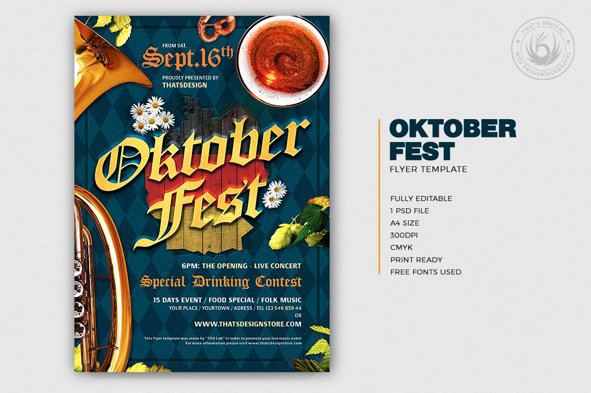 Oktoberfest Flyer Psd Template V10