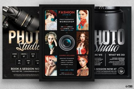 Special Photographer Flyer Bundle, Photo Studio, photoshoot, photo booth, photography,
