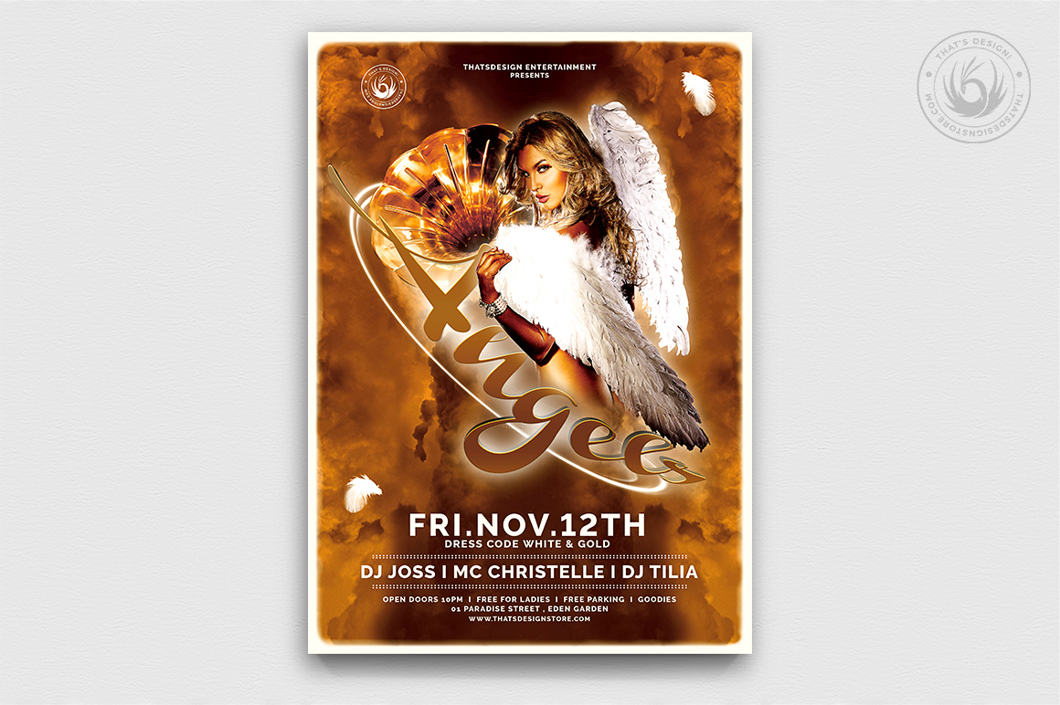 Angels Party Flyer Template V1