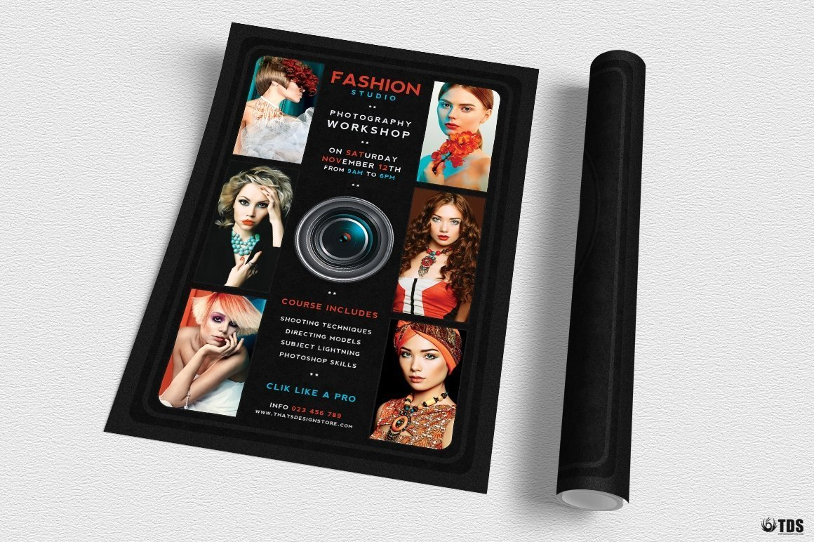 Photography Workshop Flyer Template psd