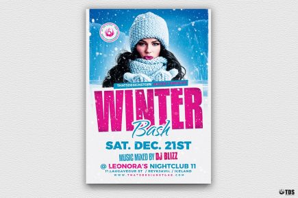 Winter Bash Flyer Template V4