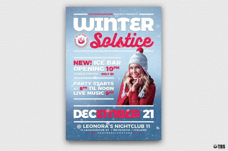 Winter Solstice Flyer Template V3