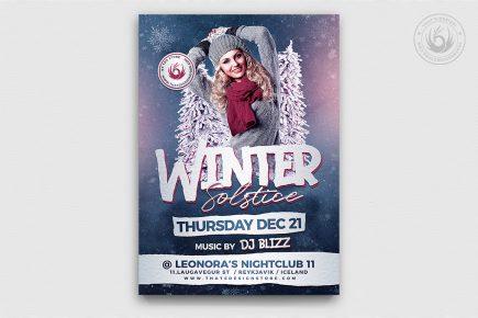 Winter Solstice Flyer Template V2 PSD download