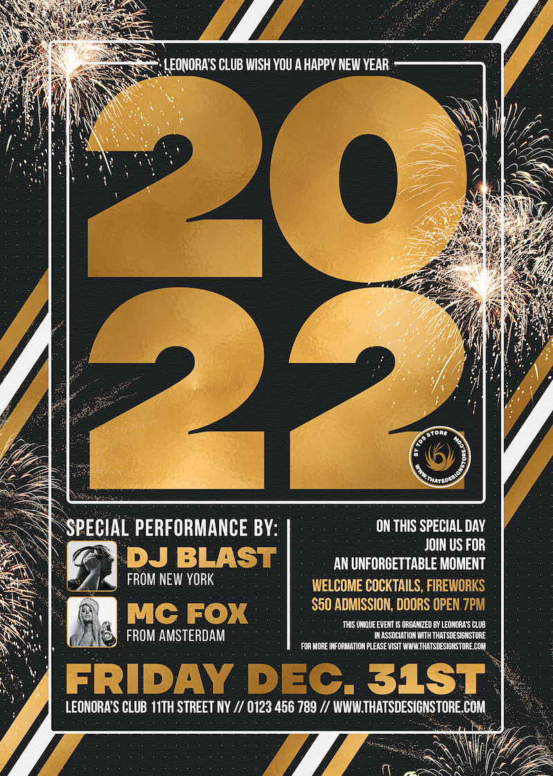 New Year Flyer Template V6