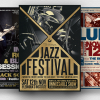 Download Concert Flyers Posters Templates V2 for Music or Jazz Festival or any Indie music live band