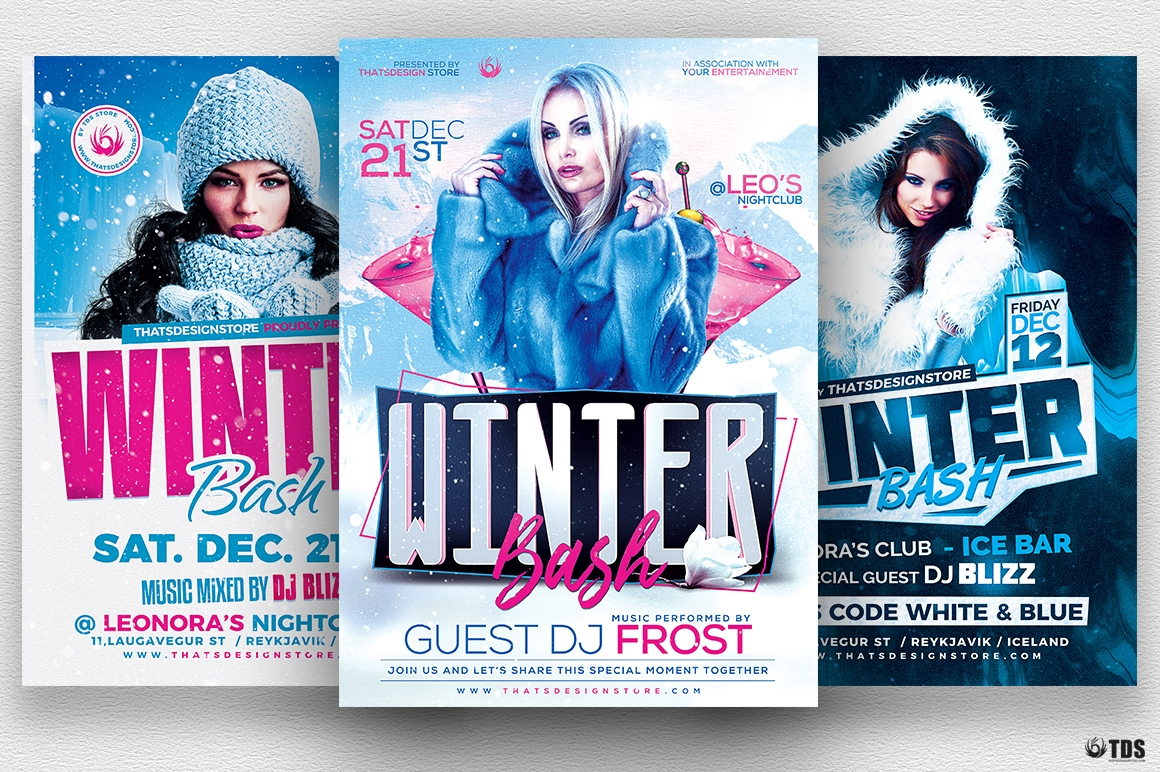 Winter Bash Flyer Bundle
