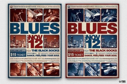 Blues Festival Flyer Template V2