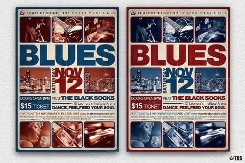 Blues Festival Flyer Template V2