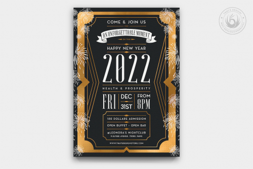 New Year Flyer PSD Template Design 8