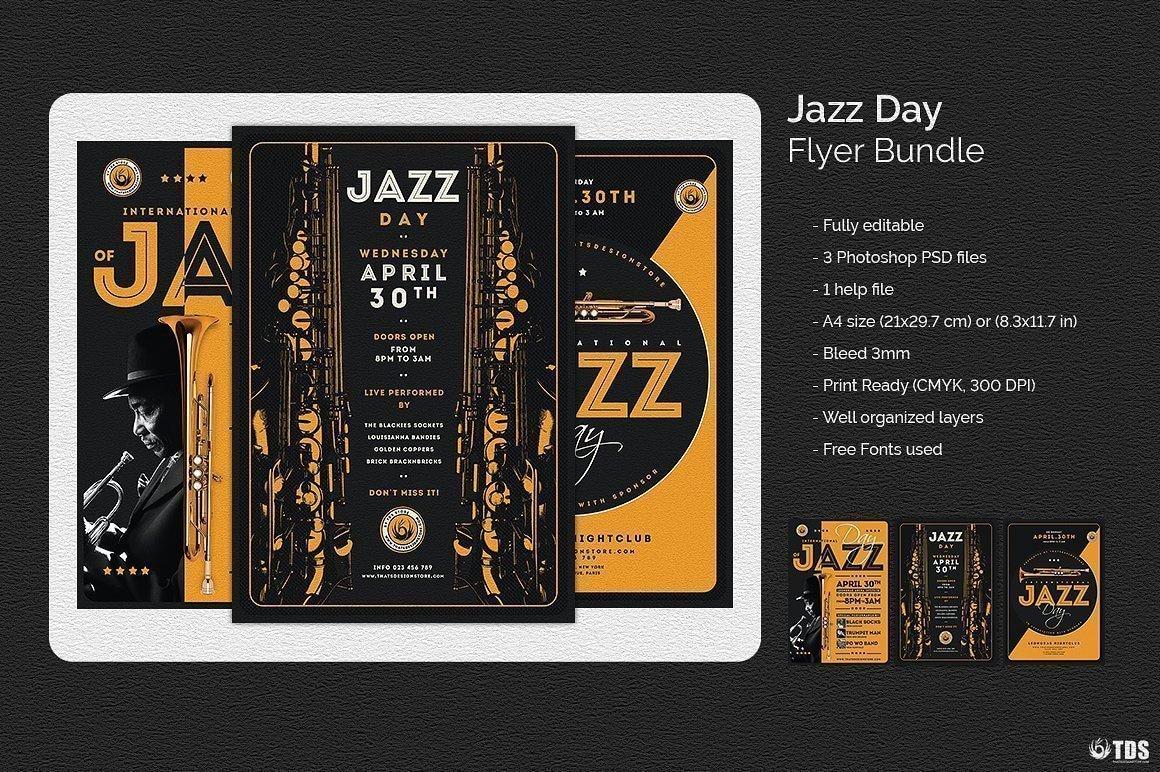 Jazz Day Flyer Bundle