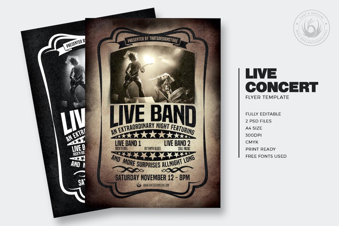 Live Concert PSD Flyer Template V1