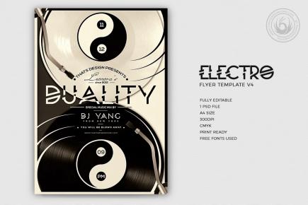 Electro Flyer Template psd V4