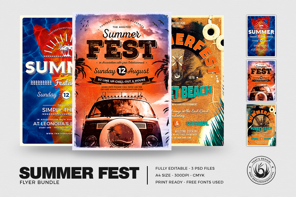 Summer Fest Flyer Templates download