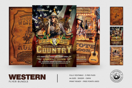 Western Flyers Templates Bundle