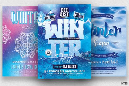 Winter Festival Flyer Bundle