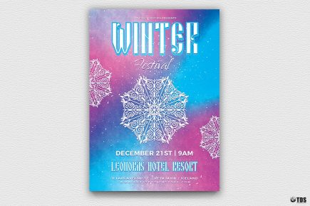Winter Festival Flyer Template V1
