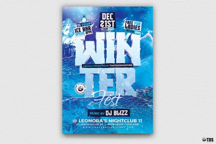 Winter Festival Flyer Template Psd Download V2