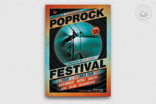 Pop Rock Festival Flyer Template