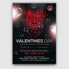 Valentine's Day Flyer Template Psd Download V14