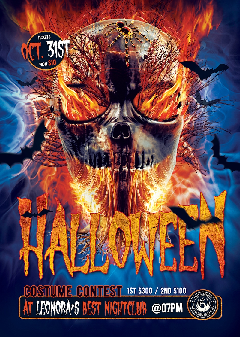 Halloween party psd flyer template V15