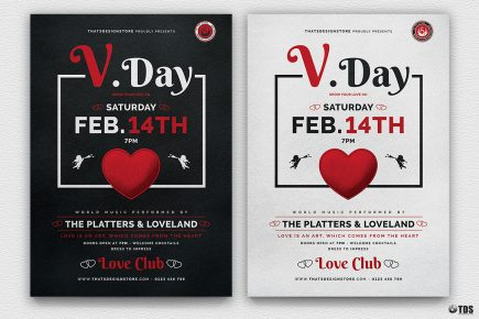 Valentine's Day Flyer Template V18 Psd download to customize with photoshop