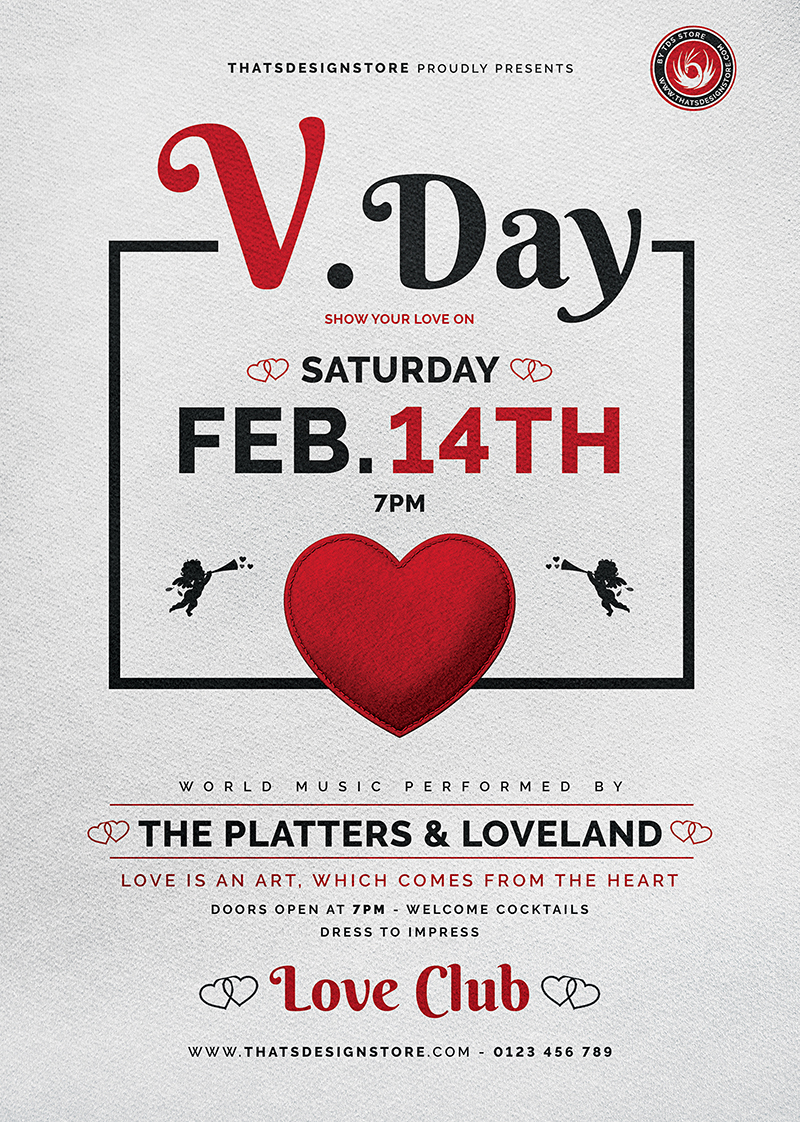 Valentine's Day Flyer Template V18
