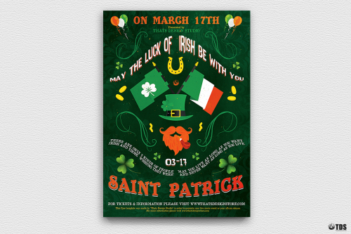 Saint Patrick's Day PSD Flyer Template V4