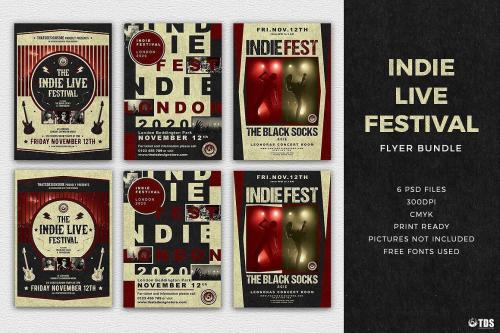 Indie Live Festival Flyer Bundle