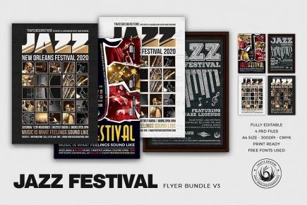 Jazz Festival Flyer Bundle V3