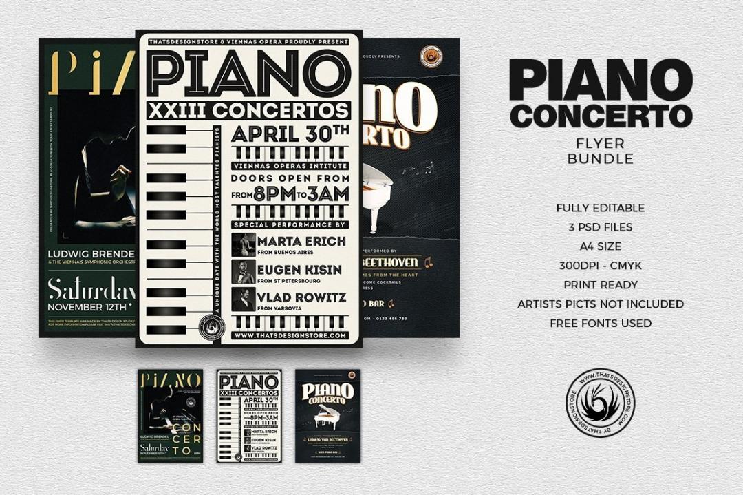 Piano Concerto Flyer Bundle