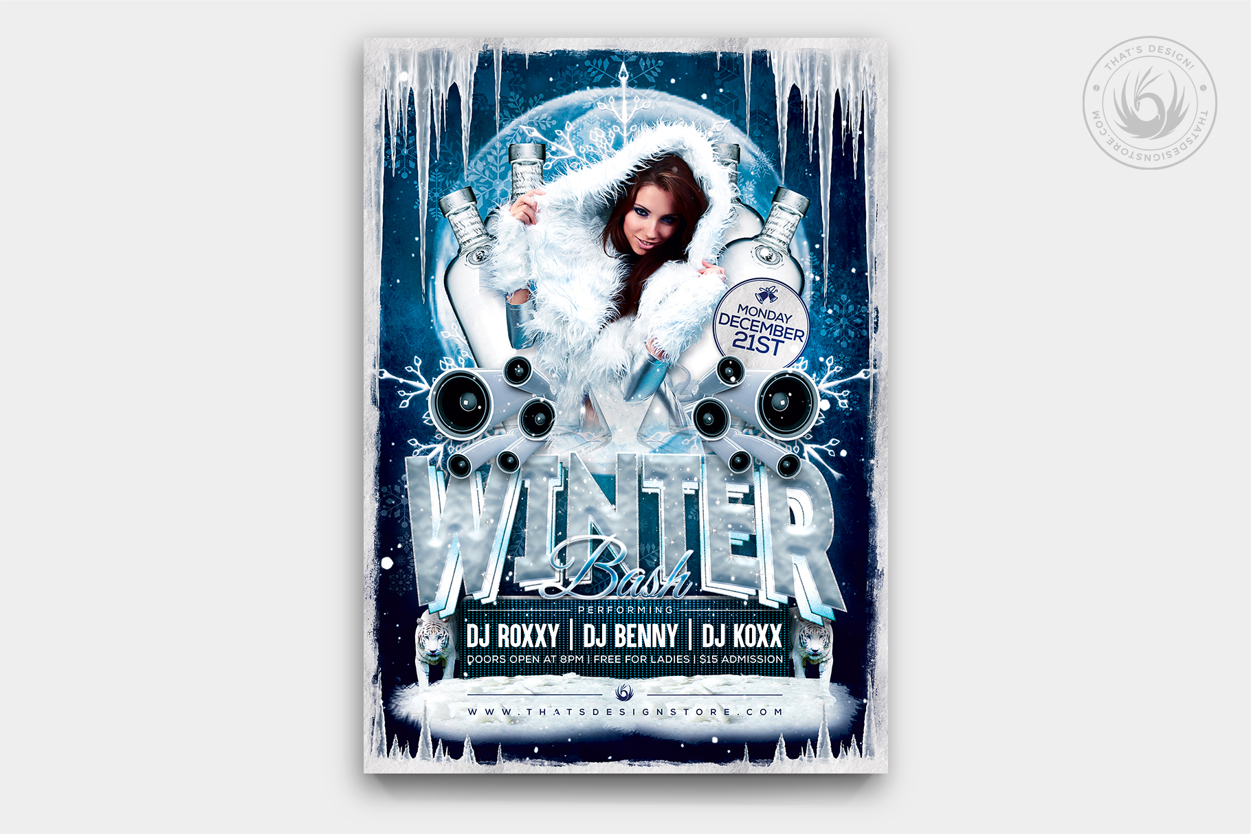 Winter Bash Flyer Template to download