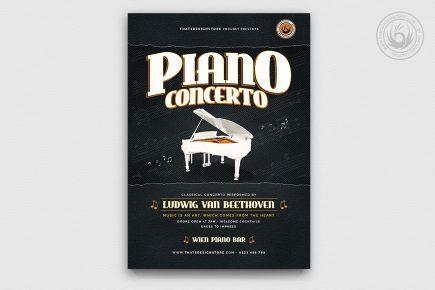 Piano Concerto Flyer Template V4