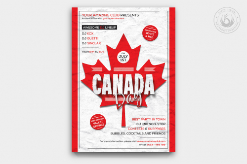 02_Canada Day Flyer Template