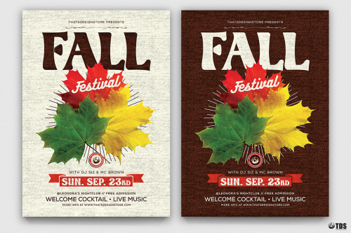 Download Fall Festival Flyer Template Psd for photoshop to customize