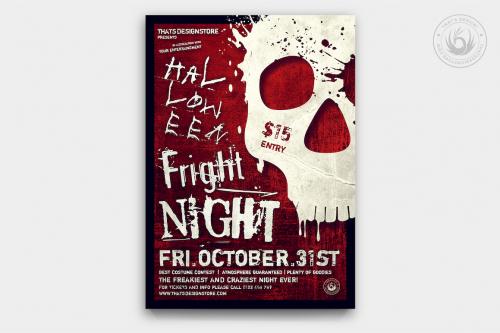 Halloween Flyer Template PSD design for photoshop V22