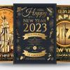 New year eve flyer templates psd bundle