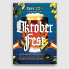 Beer Party Oktoberfest Poster Flyer PSD Template design